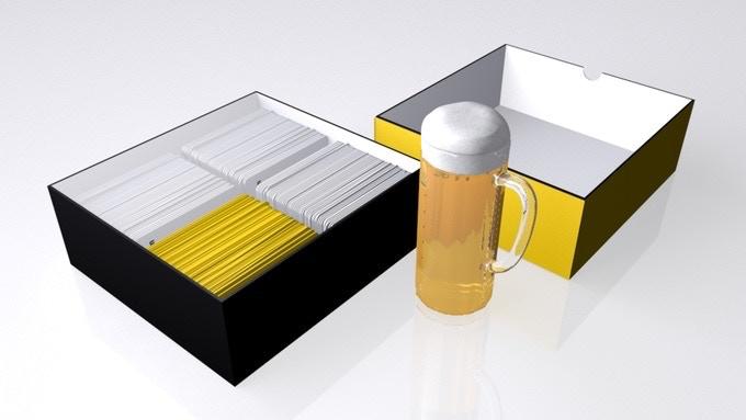 So sieht die Box von innen aus – mit Inlay und 600 hochwertigen Spielkarten.
