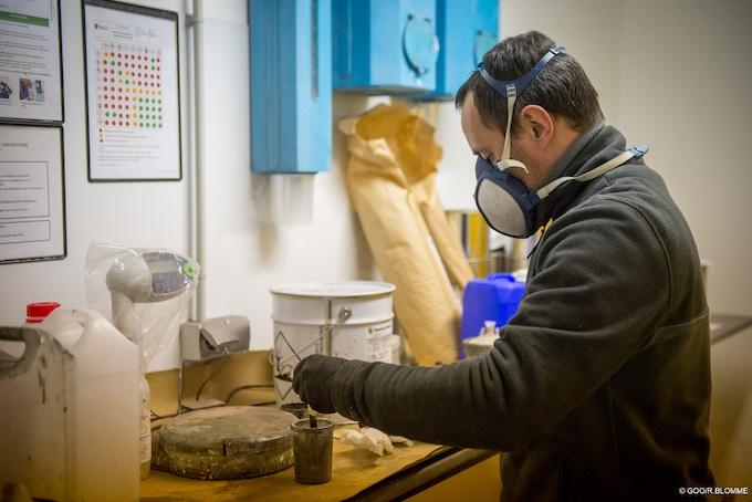 Réalisation de l'alliage de cuivre antibactérien