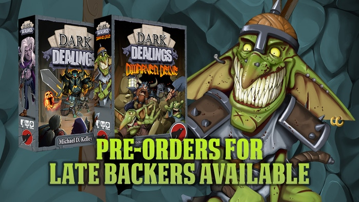 Defend your dark lair with spells, goblins & more! 1-6 in 15-20 min.Late backers as pre-orders with stretch goals available!
