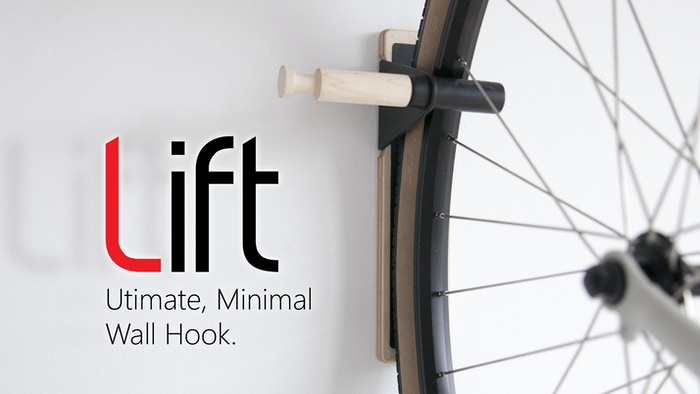 Hang your bike and everyday carry. This beautifully designed wall hook declutters your life with ease.