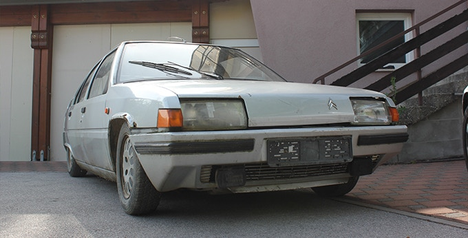 Old Citroën BX 1986 bought for the production