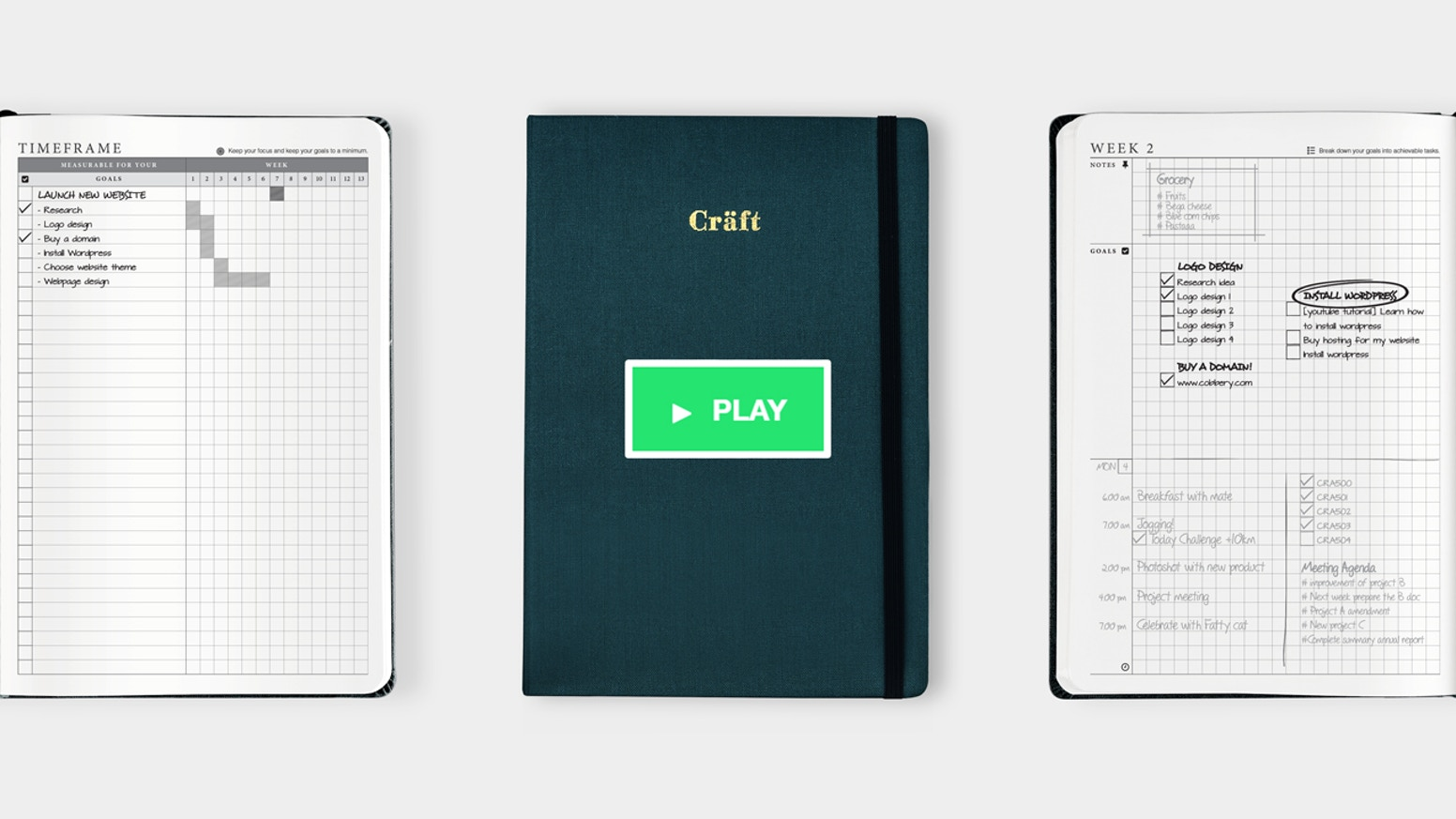 A perfect planner, journal, and notebook that start with 2 simple steps for successful goal planning and achieve your goal easily.