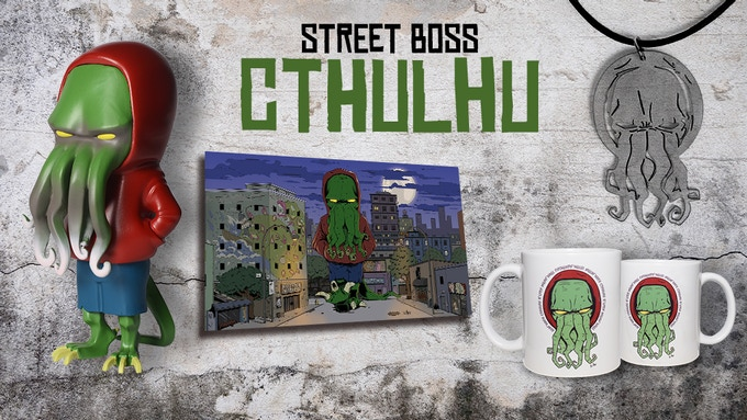 Big Bundle with one Street Boss Figure, one  mug, one necklace and one digital artwork