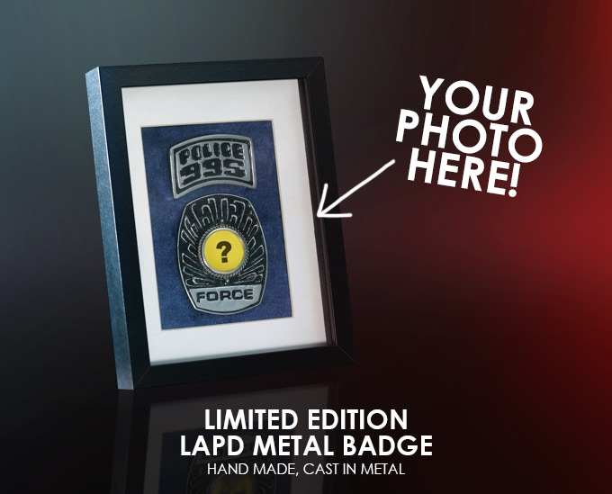 Limited edition police badge, cast from the production molds