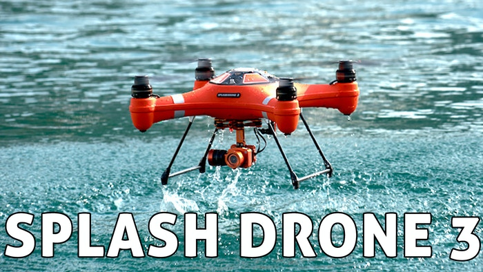 Splash Drone 3 a fully Waterproof Drone with a built in 4k camera that can see under water and a modular Payload Release System