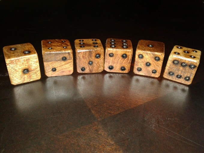 Mexican Mahogany Completed Dice