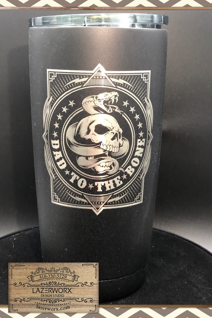 Stainless Tumbler Powder Coat Laser Engraved Amp Inked By