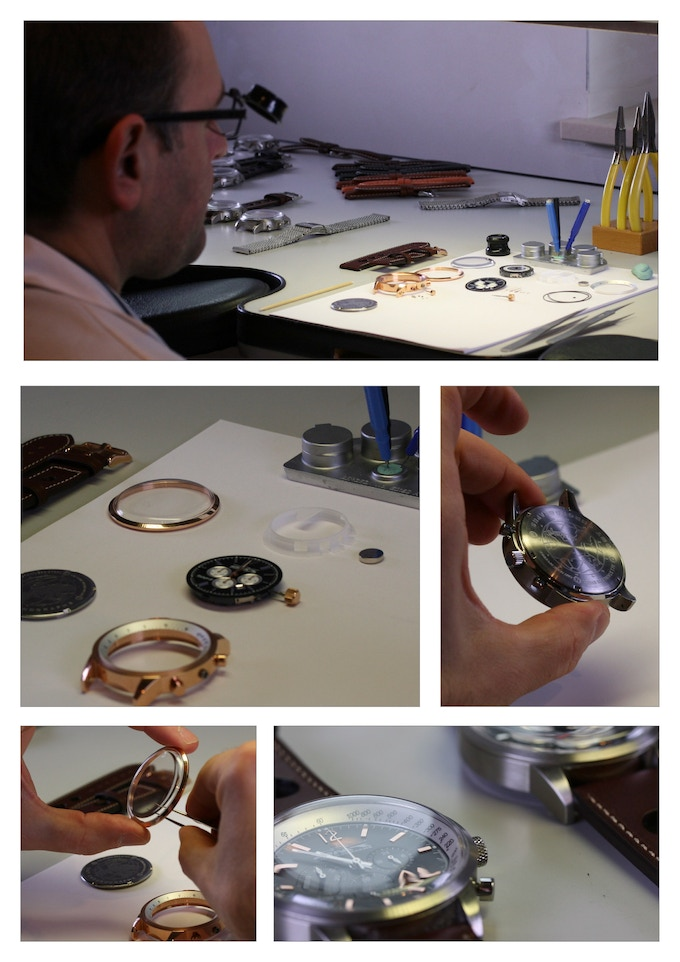 EVERY WATCH IS MADE BY HAND AND IS BACKED BY OUR 100% GUARANTEE
