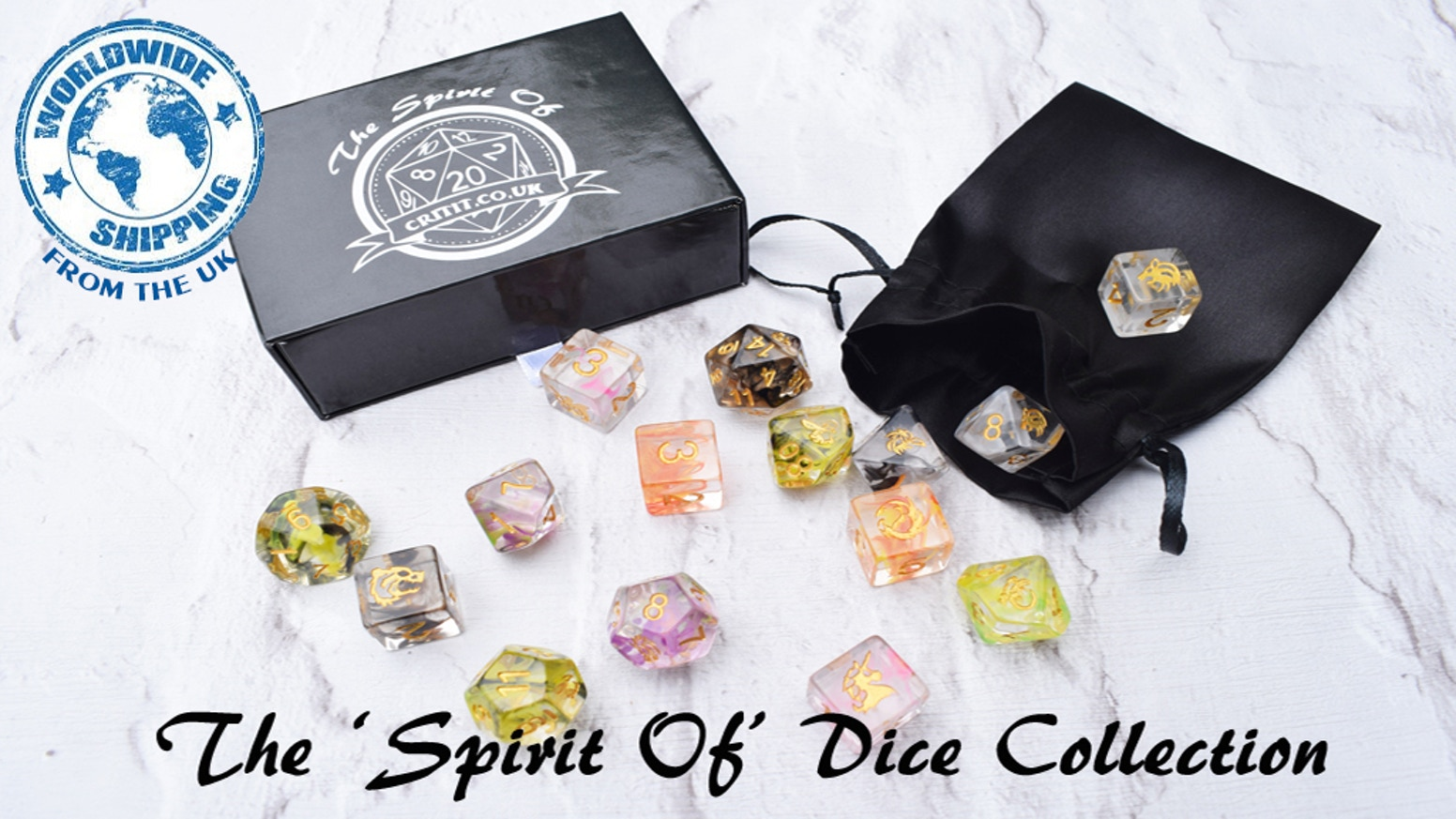 Introducing The 'Spirit Of' Range of Dice by Critit.co.uk