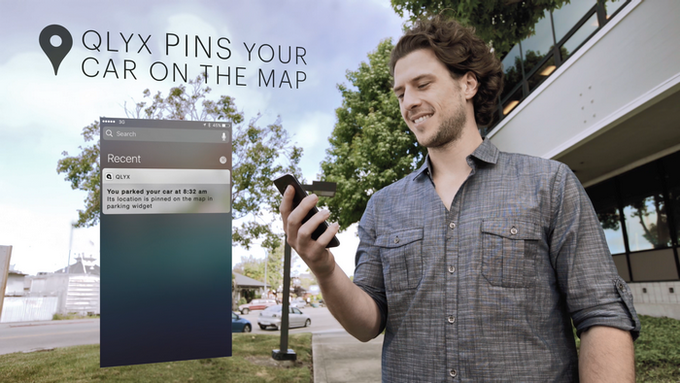 Once parked. QLYX pins your car on the map, so you always know where you've left it.
