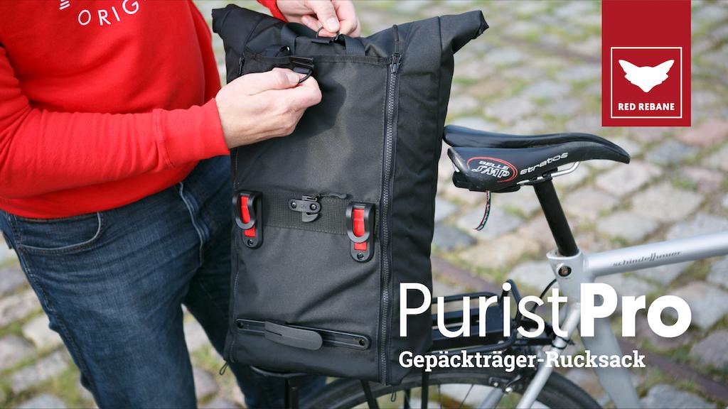 red rebane purist pro fahrradrucksack pannier bagpack by red rebane gmbh kickstarter. Black Bedroom Furniture Sets. Home Design Ideas