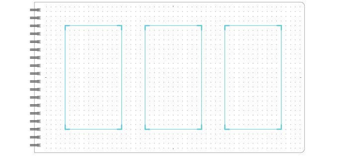 Guides for three 16:9 boxes.