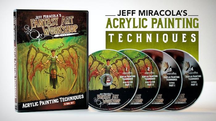 Jeff Miracola S Fantasy Art Acrylic Painting Technique Video