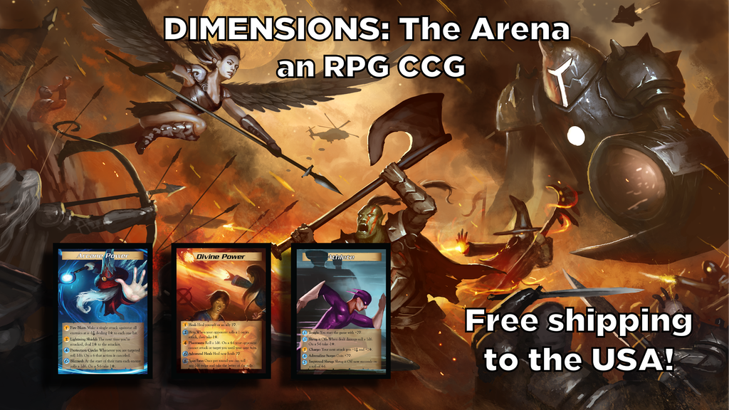 Project image for Dimensions: The Arena - An RPG-based Single Card CCG/TCG (Canceled)