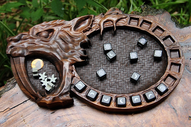 Rise of Tribes Sabertooth Tiger in Black Walnut with Natural finish.