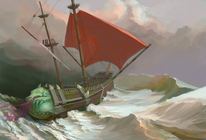 The Breath of Gorr Warship, by Jupiter Wolf