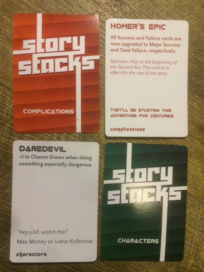 Prototype and playtest decks.