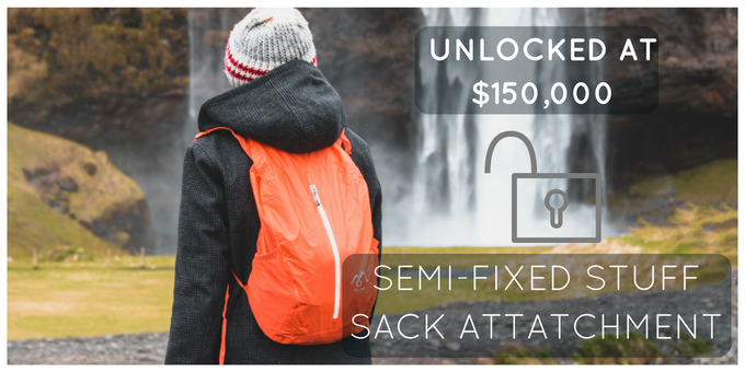 Use the stuff sack separately or attach it to the pack - The choice is yours!