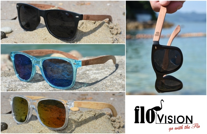 2292db2a8e71 Stylish and summer ready sunglasses made of eco-friendly wooden material by  Flo Vision