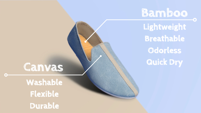Bamboo + Canvas = The Perfect Slip On
