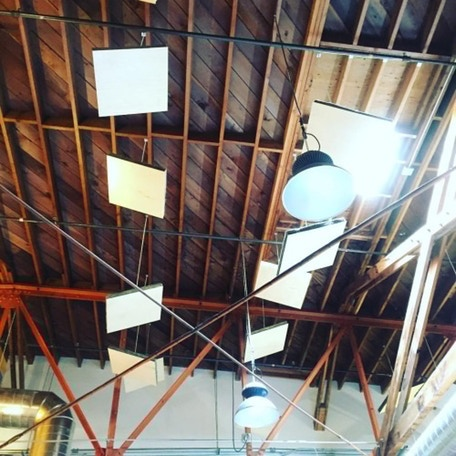 Our old-growth redwood ceiling