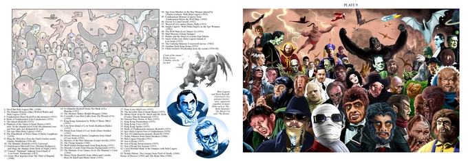 Sample spread from Pete Von Sholly's HISTORY OF MONSTERS
