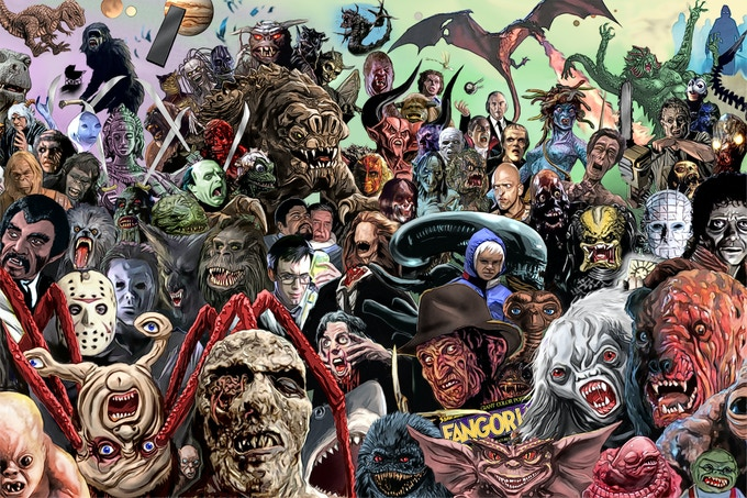 Eighties monsters from the HISTORY OF MONSTERS book!