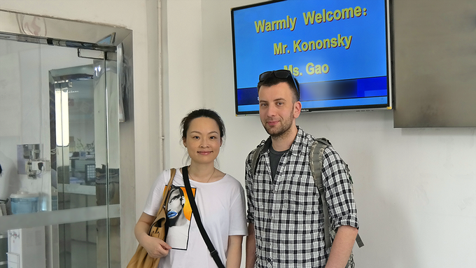 Jiaming Gao and Michael Kononsky visits the manufacturer