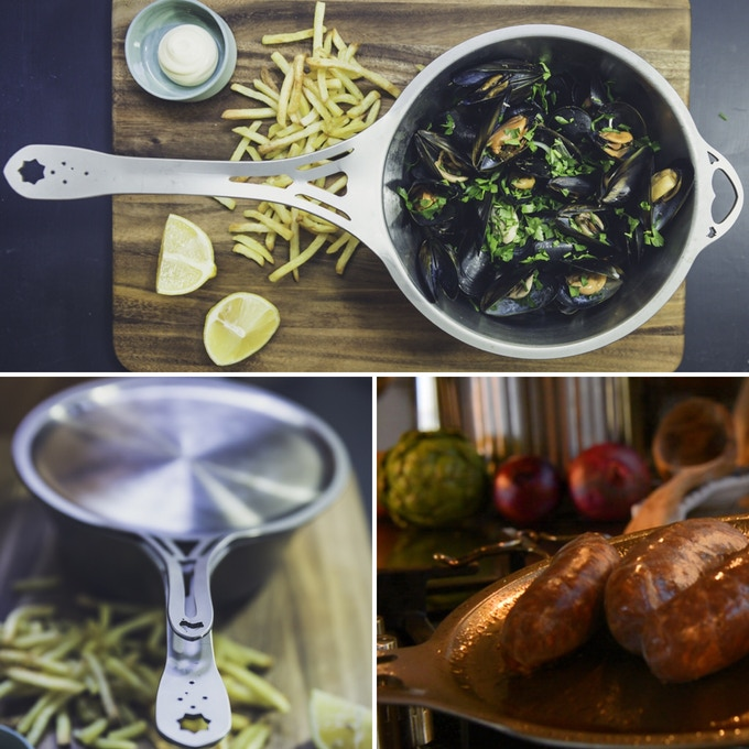 A lid with long vented handle for a cool, easy lift. Also an exceptional flat skillet in it's own right, being made from the same ferritic German stainless as our saucepan, for fast, even heat. Australian innovation!