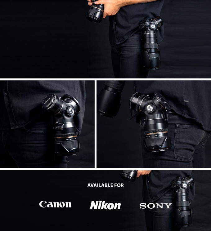 The TriLens™ is available for Canon EF, Nikon F and Sony E/FE