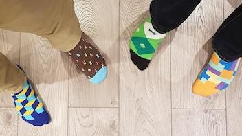 SOCK INVADERS- stylish, video game inspired socks!