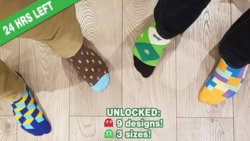 SOCK INVADERS- stylish, video game inspired socks!