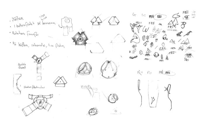 Some of the early sketches
