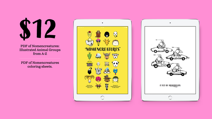 $12 reward level: Both pdfs! And seriously, you aren't getting iPads with any of these rewards.