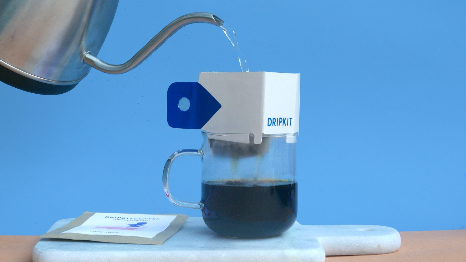Dripkit is the pocket-sized pour over you've been waiting for - a new way to make great coffee anywhere.