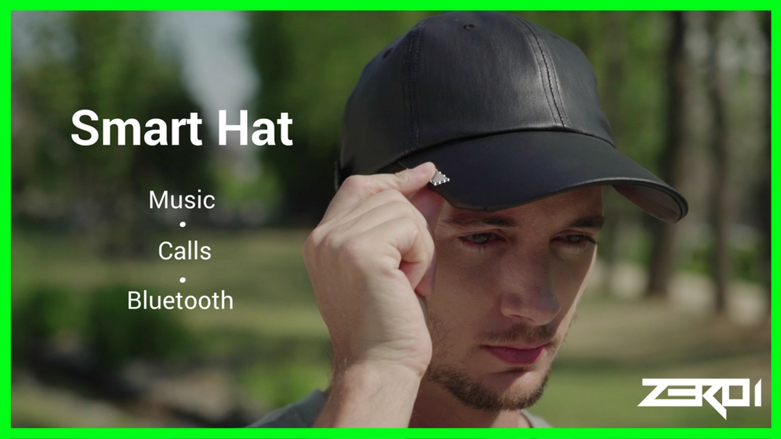 ZEROi is not your ordinary hat. It uses bone conduction technologyand allows you listen to music without earphones.