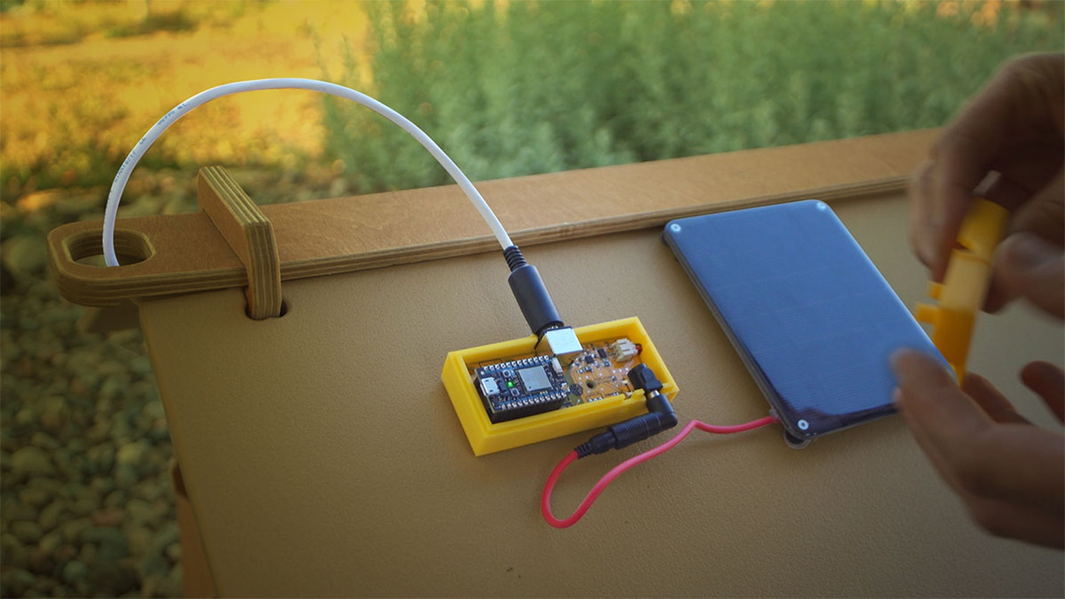 Buzzbox Advanced Beehive Sensor Smartphone App By Aaron Makaruk House Wiring Open Neutral Sensors Help You Track Hive Health From Your Buy One Or Support Citizen