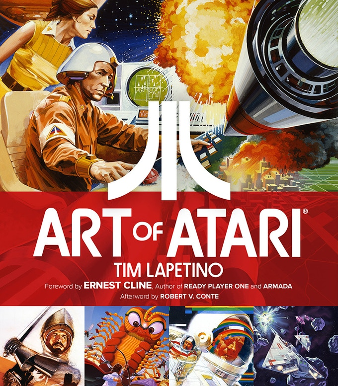 The Art of Atari Hard Cover Art Book