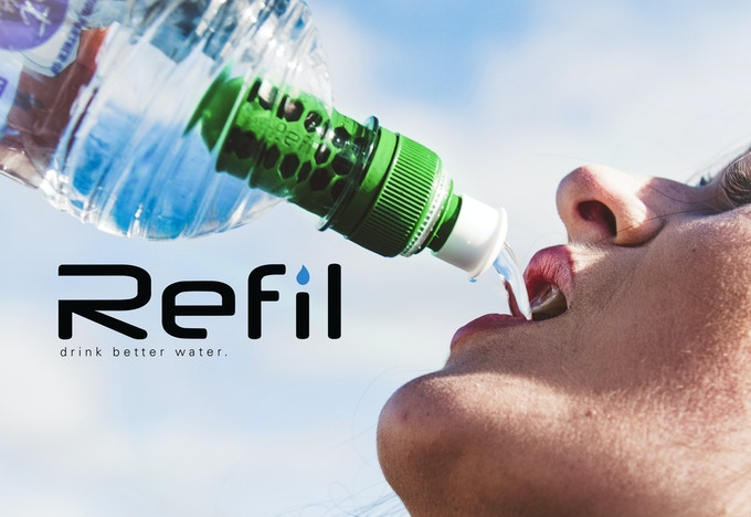 The water filter that screws on to beverage bottles and filters as you drink