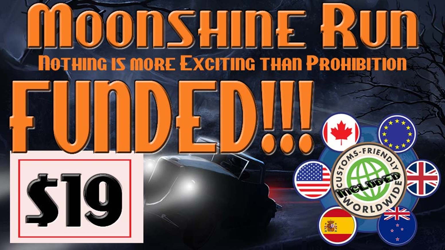 Moonshine Run is a game of luck and hand management set in the 1930's and you are a moonshine runner.