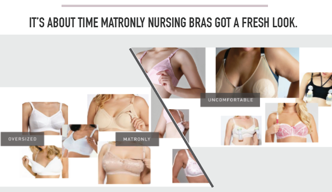 6e0023c8fc1e0f Traditional nursing bras are unattractive and uncomfortable. Lace and sexy  trims have tried to make oversized cups and thick straps more appealing but  have ...