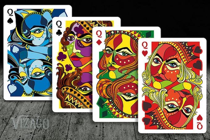 VIZAĜO Playing Cards - Four Queens
