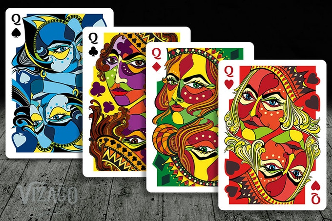 VIZAĜO Playing Cards - Four Queens