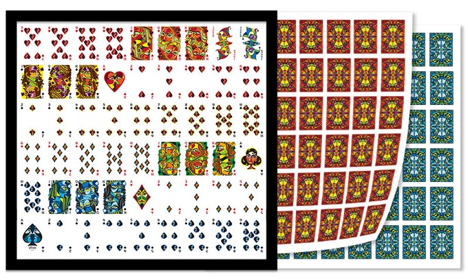 Digital rendering of VIZAĜO uncut sheet