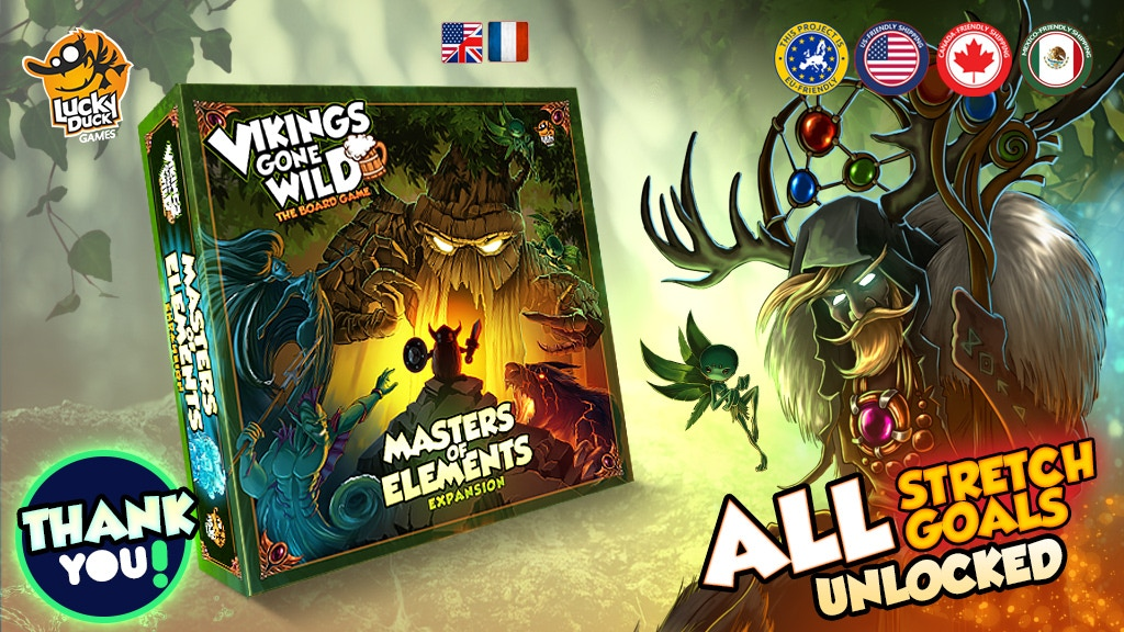 Vikings Gone Wild - Masters of Elements Expansion (+Reprint) project video thumbnail