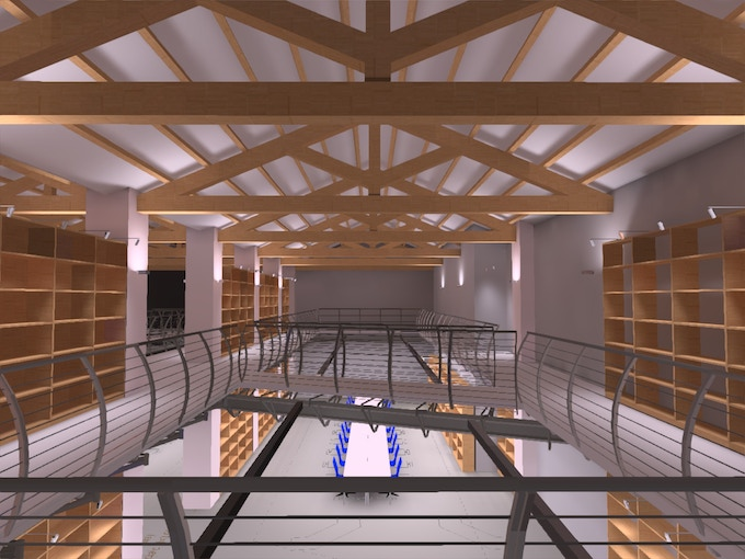 A view of the first floor of the Multimedia Music Library