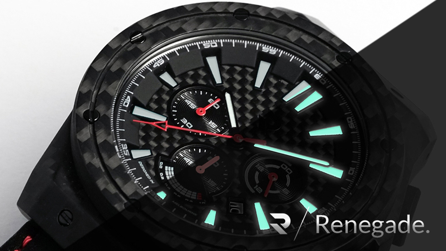 Minimalist Luxury Watches, Carbon Fiber Case, Dial, Bezel, Unique Straps, Bundled w/Travel Roll Case - FREE. Exclusive to Kickstarter.