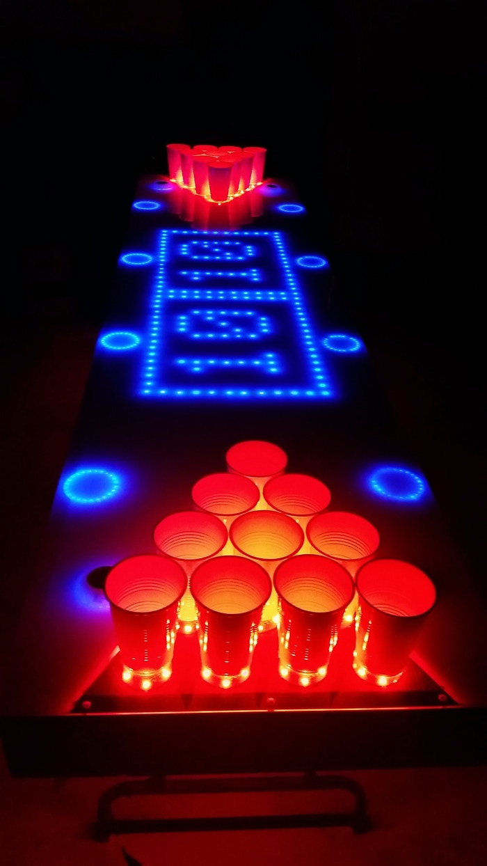 Introducing the most sophisticated beer pong table kit ever! Completely open-source and fully customizable!