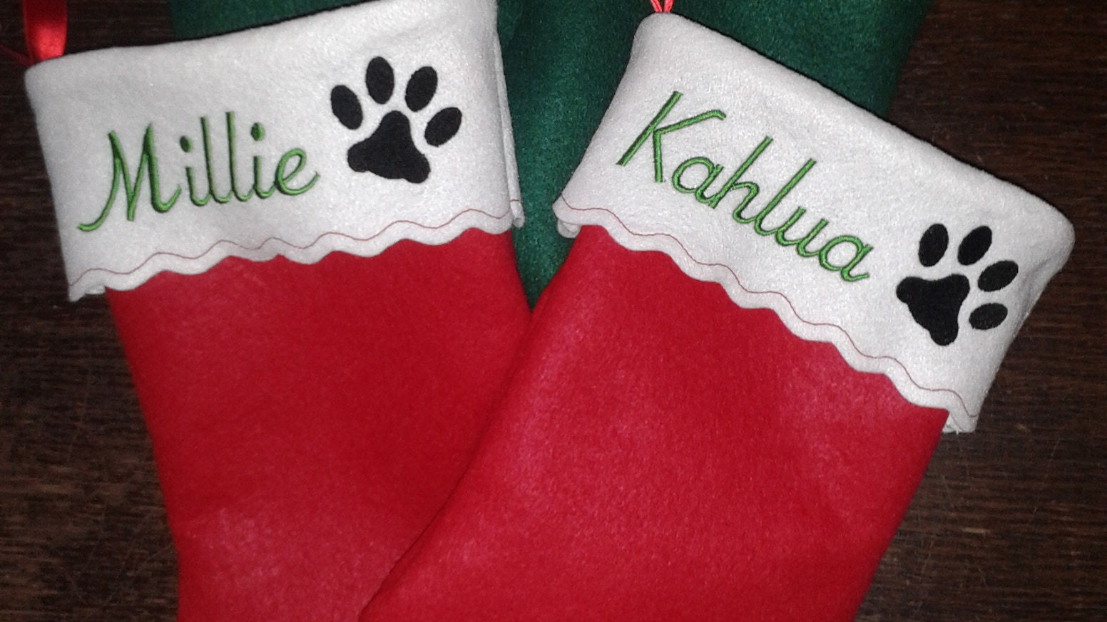 personalized embroidered pet felt christmas stocking