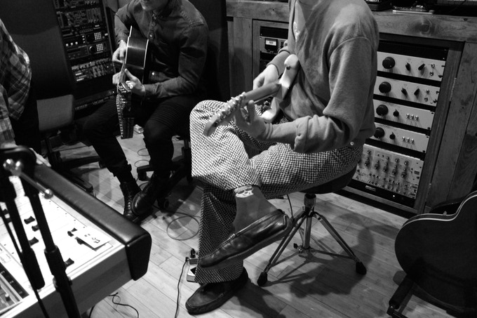 Wolfe & Brad Allen Williams at Bunker Studio working on The Remedy EP